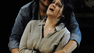 Atalla Ayan as Rodolfo and Keri Alkema as Mimi, La bohème, Glyndebourne on Tour 2011.