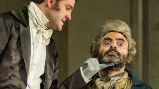 Dandini (Armando Noguera) and Don Magnifico (Umberto Chiummo), La Cenerentola 2012.