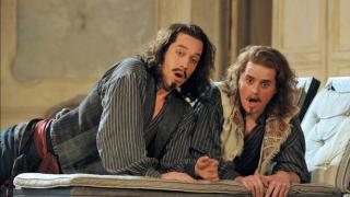 Robert Gleadow as Guglielmo and Allan Clayton as Ferrando