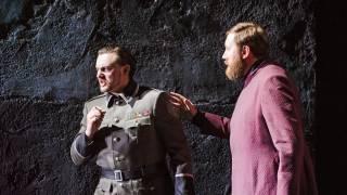 Poliuto, Glyndebourne Festival 2015. Severo (Igor Golovatenko) and Callistene (Matthew Rose).