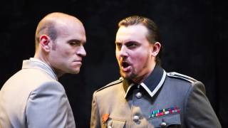 Poliuto, Glyndebourne Festival 2015. Poliuto (Michael Fabiano) and Severo (Igor Golovatenko).