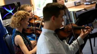 Young instrumentalists from the Nothing Orchestra. Photographer Sam Stephenson.