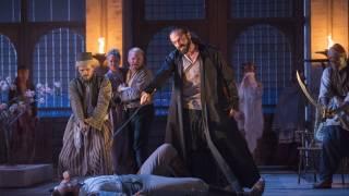 Die Entführung aus dem Serail, Glyndebourne Festival 2015. Belmonte (Edgaras Montvidas) and Pasha Selim (Franck Saurel).