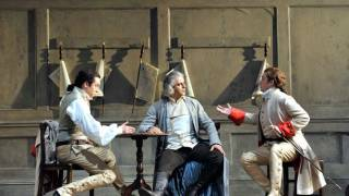 Robert Gleadow as Guglielmo, Pietro Spagnoli as Don Alfonso and Allan Clayton as Ferrando