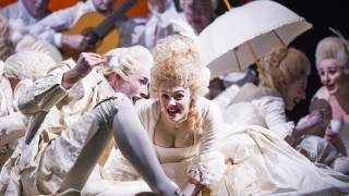 Don Pasquale, Glyndebourne Tour 2015. Glyndebourne Chorus. Photographer: Tristram Kenton
