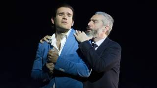 Michael Fabiano as Alfredo and Tassis Christoyannis as Giorgio in La traviata, Festival 2014