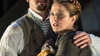 Glyndebourne Tour 2015, Die Entführung aus dem Serail. Belmonte (Benjamin Bliss) and Konstanze (Ana Maria Labin). Photographer: Clive Barda