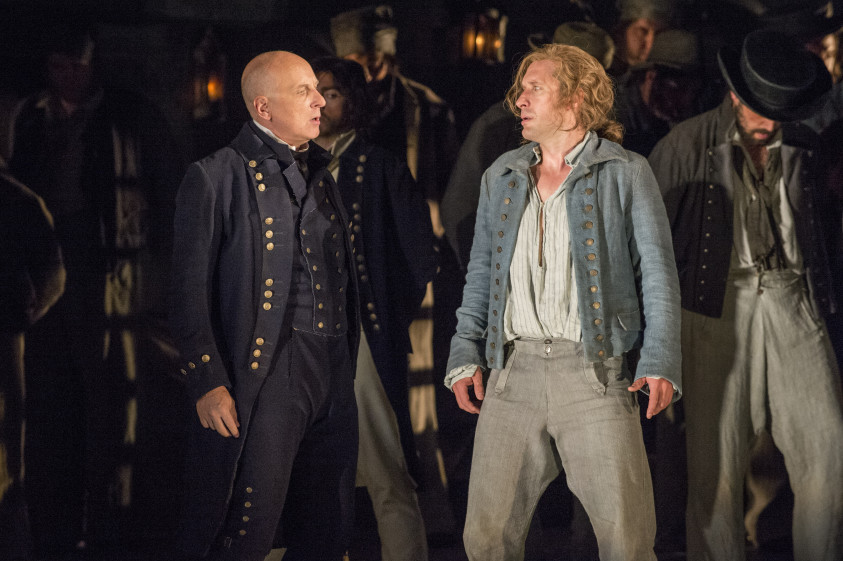 Brindley Sherratt and Jacques Imbrailo in Billy Budd.