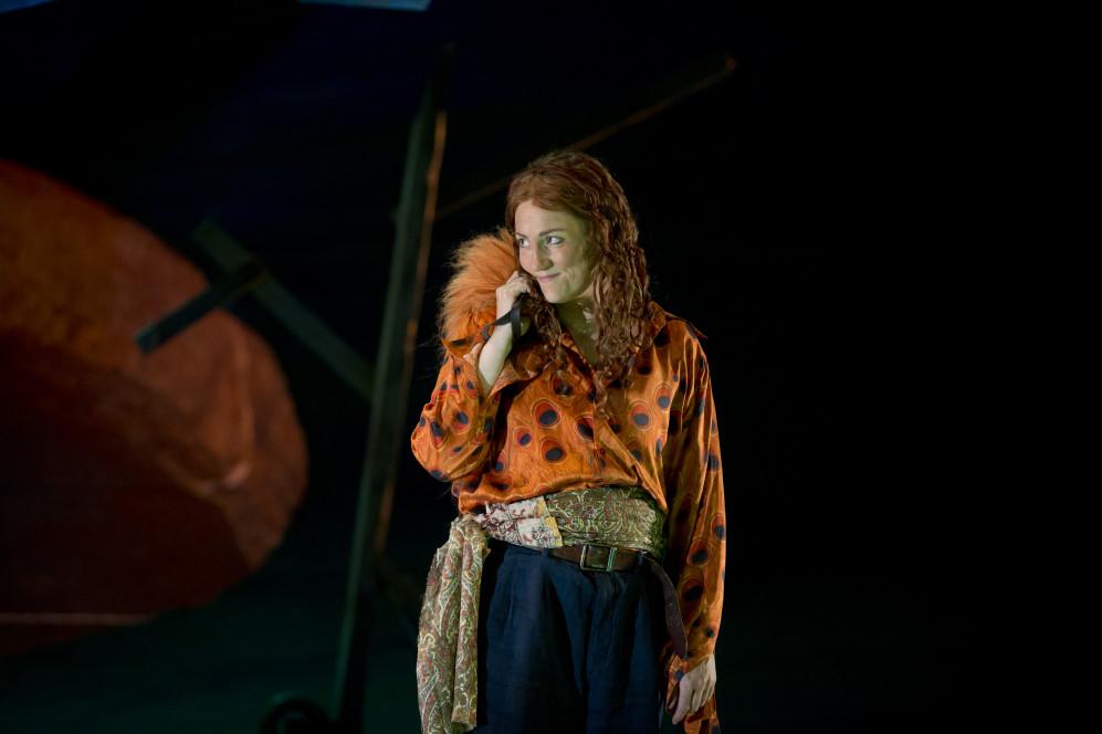 Emma Bell as the Fox in The Cunning Little Vixen.