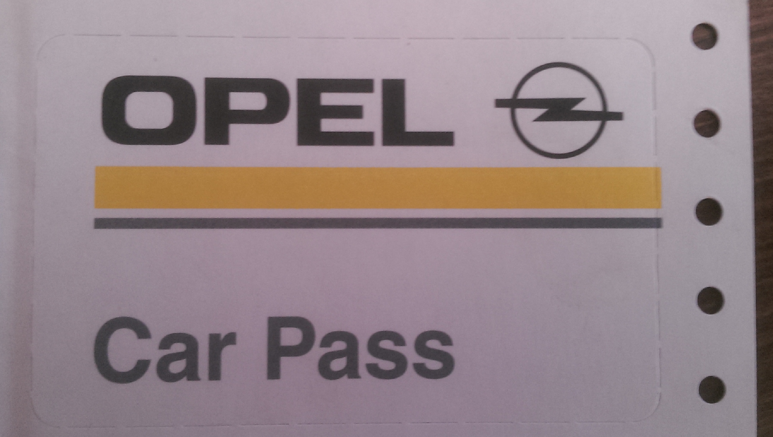 carpass opel
