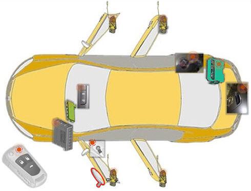 Цилиндр замка водительской двери