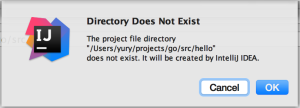 Directory creation confirmation