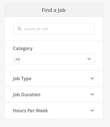 Job Search Bar