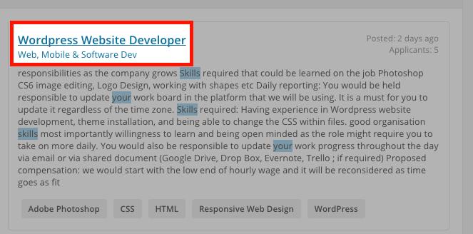 Job Post To Click