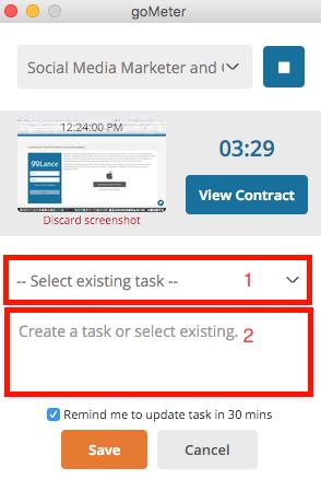 goMeter - Task creation