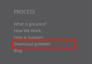 Footer goMeter