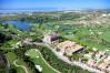 A sunny aerial view of Villa Padierna, Costa Del Sol, Spain