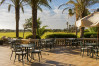 The cafeteria terrace at the Elba Palace Golf