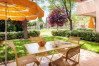 Relaxing outdoor seating at Domaine de montpellier Massane in the south of France.