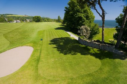 The 18th tee at Aberdour golf club