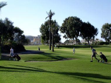 Hole 4 golfers on fairway
