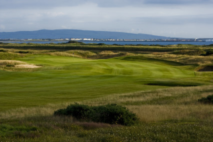 A beautiful view of the 5th hole on Dundonald Links, Ayrshire, Scotland