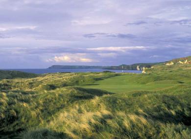 Great coastal views of Portstewart golf club, Northern Ireland