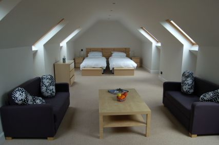 An example of the double rooms available at The Garleton Lodge