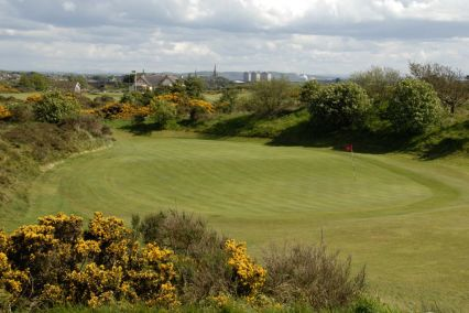 Great view of the well kept greens at Irvine Golf Club