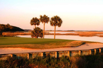 Oak Point sunset view at the stunning Kiawah Island Golf Resort, Charleston, USA