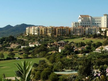Las Lomas village looks out over the entire resort at La Manga