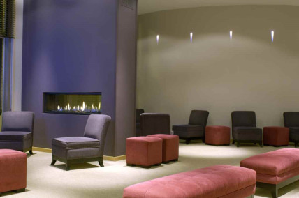 Very comfortable and spacious lounge area at the excelletn Martins Brugges Hotel, Belgium