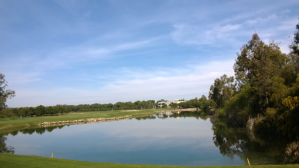 A view of the 10th at PGA Sultan