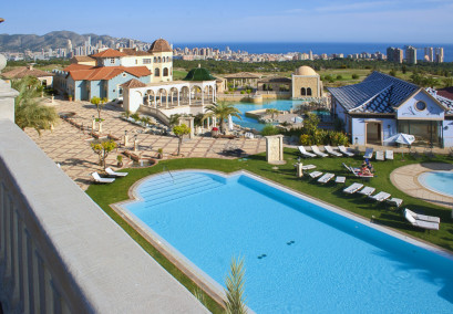 A beautiful view from the Presidential Suite terrace at Melia Villaitana, Costa Blanca, Spain