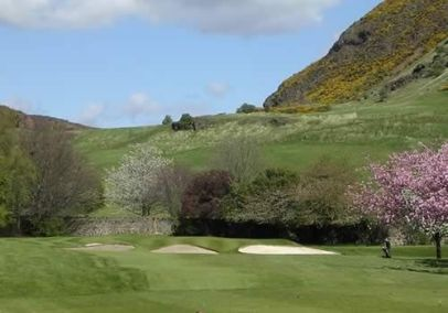 Hills in the background of the hole
