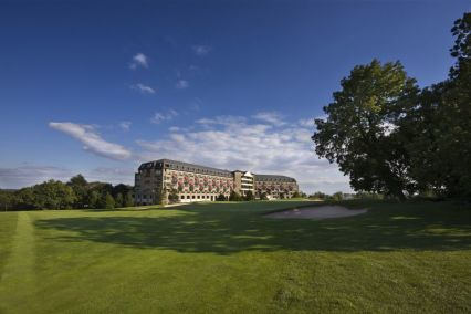 A lovely view to the resort hotel at Celtic Manor, Newport, Wales
