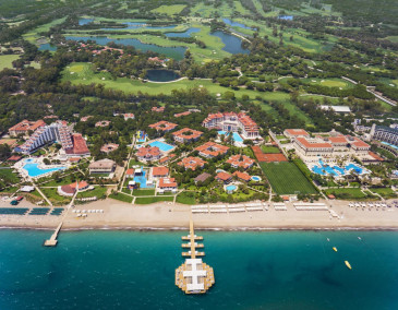 The incredible ariel view at Sirene Belek Hotel and golf course