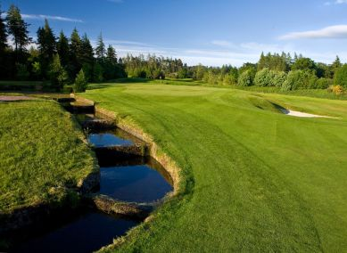 Water hazard to be cautious of on this well kept course