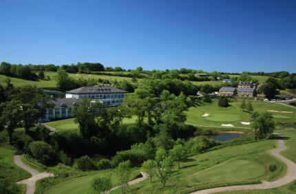 Superb aerial view of Dartmouth Golf & Country Club, Devon