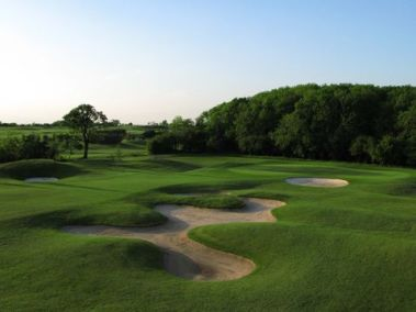 The 17th' Deer Run' hole on the Codrington course at the Players Golf Club