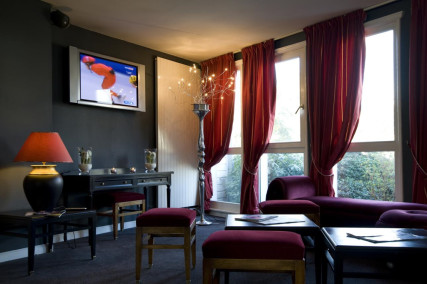 The Salon bar at the Hotel du Golf d'Arras, Pas-de-Calais, France