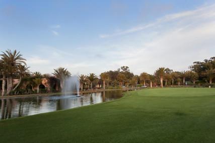 Water hazards feature at Golf Du Soleil, Agadir