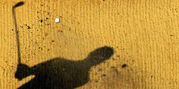 Wenn man nur noch ein Schatten der eigenen Leistung zu sehen ist: Visualisierung beim Golf. (Foto: getty)