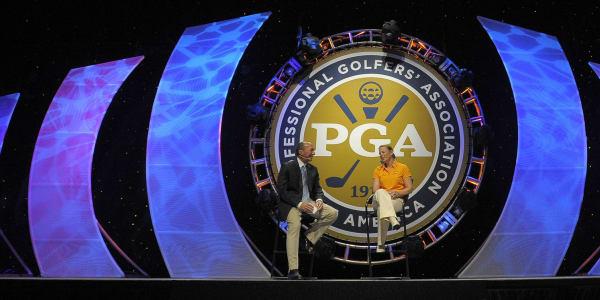 Vor dem Haupteingang der PGA Merchandise Show 2016. (Foto: Golf Post)
