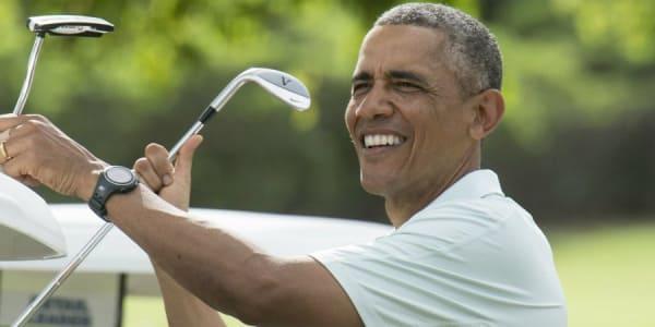 Nach eigenen Angaben spielt Barack Obama mit einem Handicap von 13. (Foto: Getty)