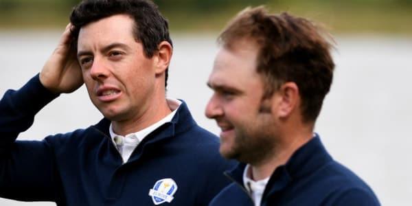 Rory McIlroy (li.) und Andy Sullivan sind zwei der zwölf Spieler für das Team Europa. (Foto: Getty)
