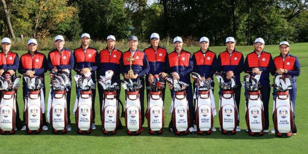 Ein Blick in die Taschen des amerikanischen Ryder Cup Teams. (Foto: Getty)