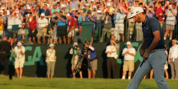 Der Strafschlag für Dustin Johnson bei der US Open sorgte für einen Aufschrei. Jetzt wird die Regel geändert. (Foto: Getty)