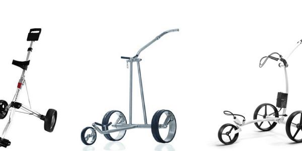 Für Golftrolleys kann man sehr tief in die Tasche greifen, doch wie tief ist dies nötig um den maximalen Nutzen zu erreichen? (Foto: JuCad, Kiffe-Golf, Twitter@OnlineMarket789)