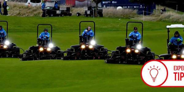 Zeitlich scheint es ungünstig, doch am Ende haben alle Golfer mehr davon, wenn im Trockenen gemäht wird. (Foto: Getty)